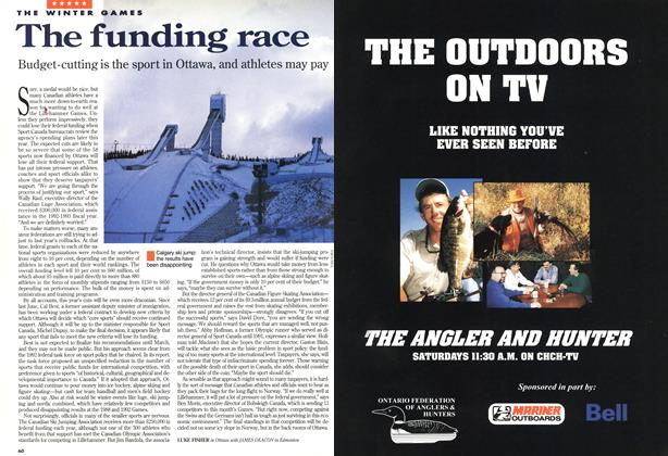 Article Preview: The funding race, February 1994 | Maclean's