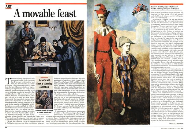 Article Preview: A movable feast, February 1994 | Maclean's