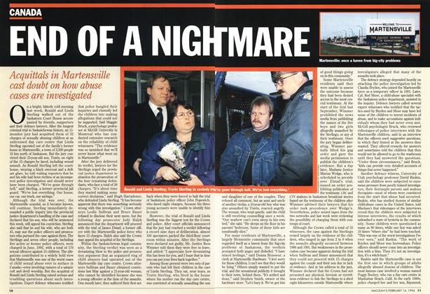 Article Preview: END OF A NIGHTMARE, February 1994 | Maclean's