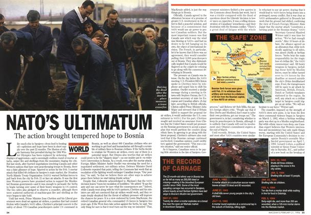 Article Preview: NATO'S ULTIMATUM, FEBRUARY 21 , 1 994 1994 | Maclean's