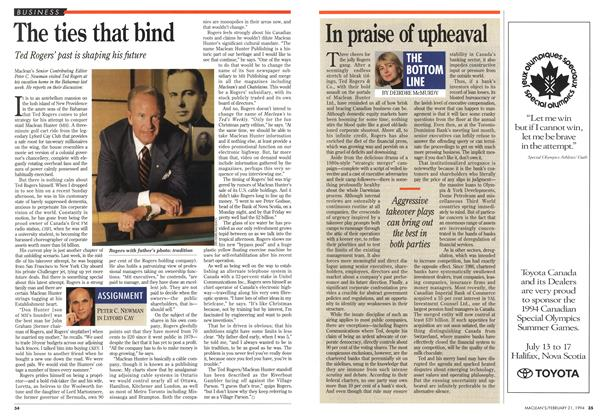 Article Preview: In praise of upheaval, FEBRUARY 21 , 1 994 1994 | Maclean's