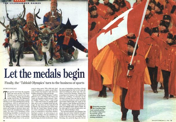 Article Preview: Let the medals begin, FEBRUARY 21 , 1 994 1994 | Maclean's