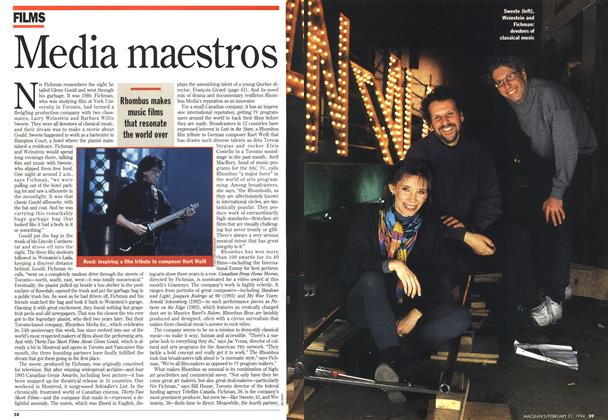 Article Preview: Media maestros, FEBRUARY 21 , 1 994 1994 | Maclean's