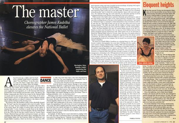 Article Preview: The master, FEBRUARY 21 , 1 994 1994 | Maclean's