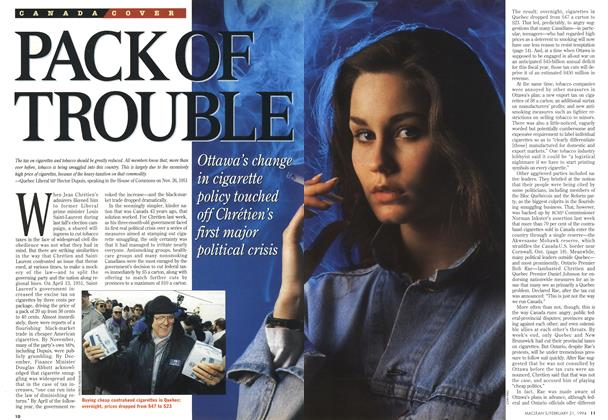 Article Preview: PACK OF TROUBLE, FEBRUARY 21 , 1 994 1994 | Maclean's