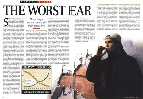 Article Preview: THE WORST FEAR, FEBRUARY 21 , 1 994 1994 | Maclean's