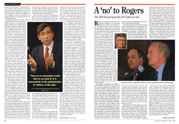 Article Preview: A 'no to Rogers, February 1994   Maclean's