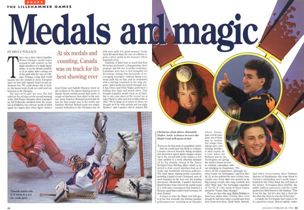 Article Preview: Medals and magic, February 1994 | Maclean's