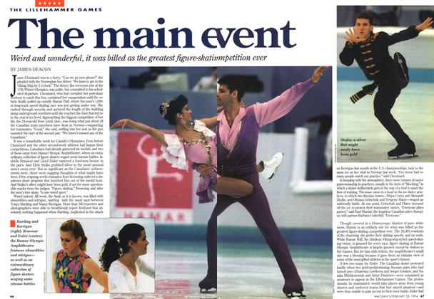 Article Preview: The main event, February 1994 | Maclean's