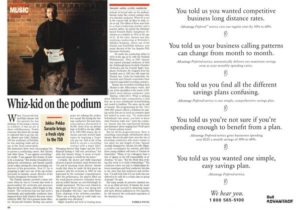 Article Preview: Whiz-kid on the podium, February 1994 | Maclean's