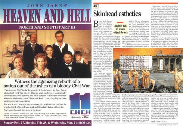 Article Preview: Skinhead esthetics, February 1994 | Maclean's