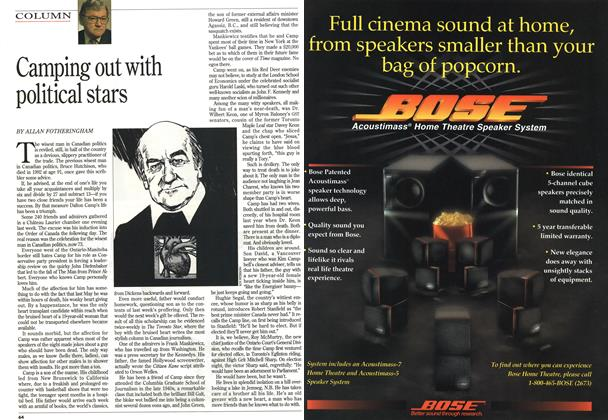 Article Preview: Camping out with political stars, February 1994 | Maclean's