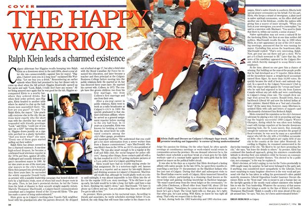Article Preview: THE HAPPY WARRIOR, March 1994 | Maclean's