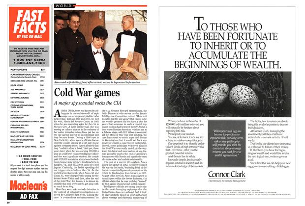 Article Preview: Cold War games, March 1994 | Maclean's