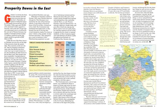 Article Preview: Prosperity Dawns in the East, March 1994 | Maclean's