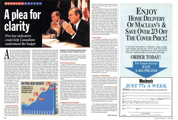 Article Preview: A plea for clarity, March 1994 | Maclean's