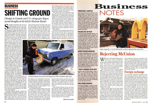 Article Preview: SHIFTING GROUND, March 1994 | Maclean's