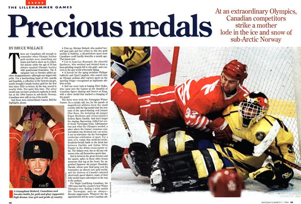 Article Preview: Precious medals, March 1994 | Maclean's