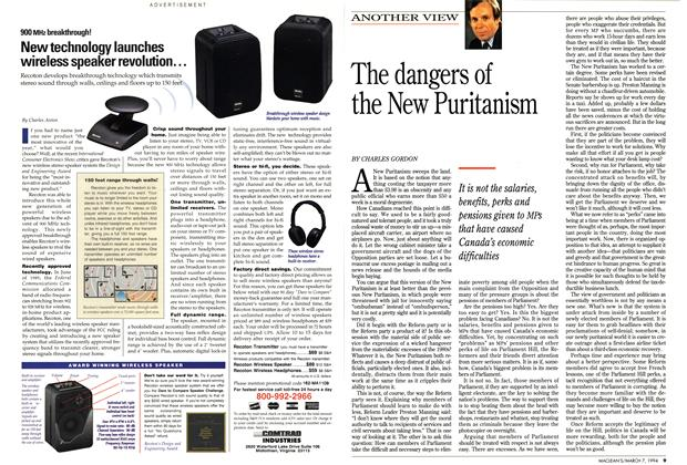 Article Preview: The dangers of the New Puritanism, March 1994 | Maclean's