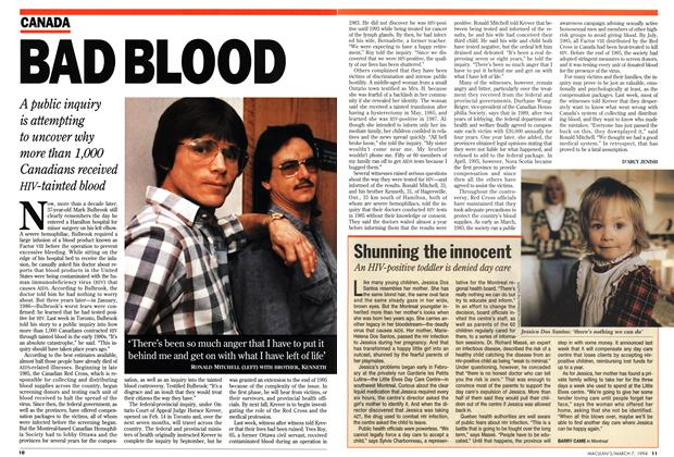 Article Preview: BAD BLOOD, March 1994 | Maclean's