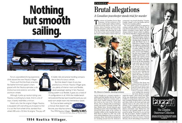 Article Preview: Brutal allegations, March 1994 | Maclean's