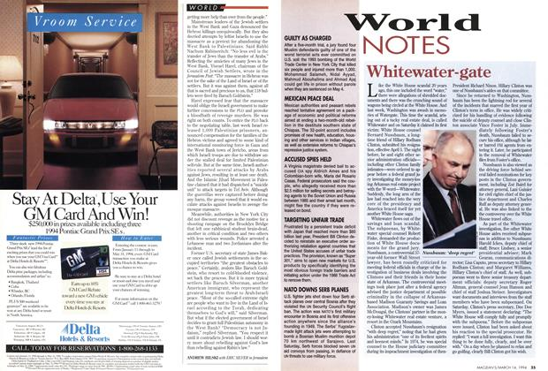 Article Preview: World NOTES, March 1994 | Maclean's