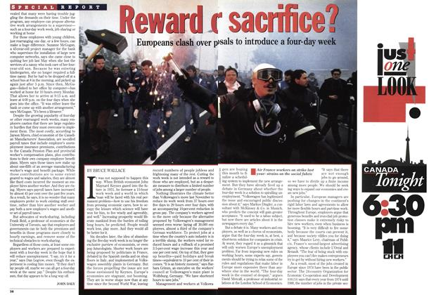 Article Preview: Reward or sacrifice?, March 1994 | Maclean's