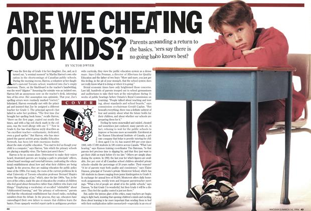 Article Preview: ARE WE CHEATING OUR KIDS?, March 1994 | Maclean's