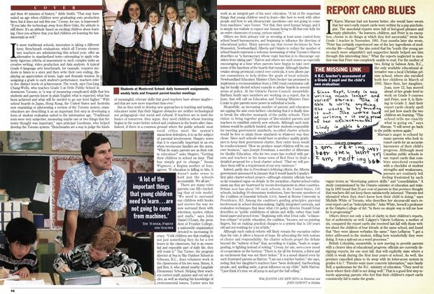 Article Preview: REPORT CARD BLUES, March 1994 | Maclean's