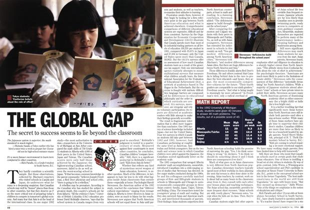 Article Preview: THE GLOBAL GAP, March 1994 | Maclean's