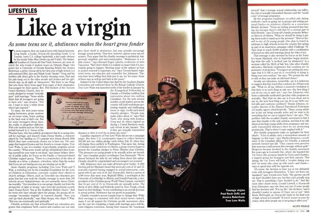 Article Preview: Like a virgin, March 1994 | Maclean's
