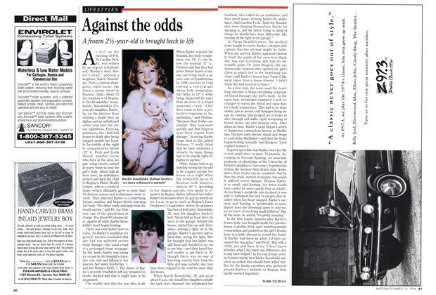 Article Preview: Against the odds, March 1994 | Maclean's