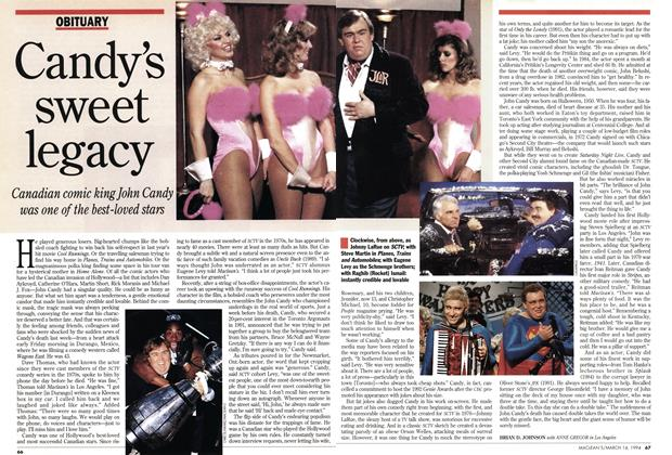 Article Preview: Candy's sweet legacy, March 1994 | Maclean's