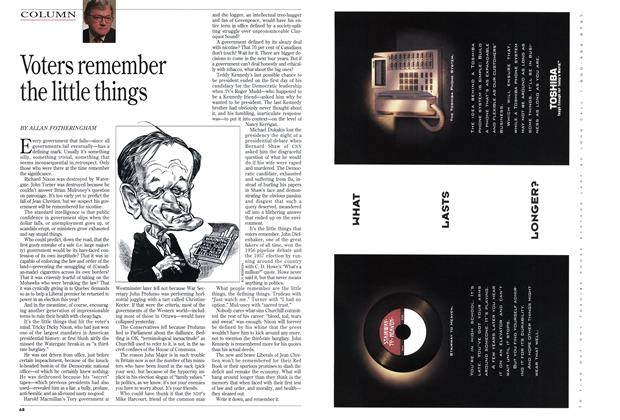 Article Preview: Voters remember the little things, March 1994 | Maclean's