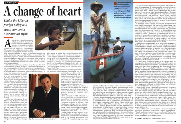 Article Preview: A change of heart, March 1994 | Maclean's
