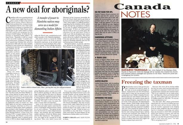 Article Preview: A new deal for aboriginals?, March 1994 | Maclean's