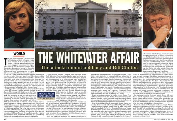 Article Preview: THE WHITEWATER AFFAIR, March 1994 | Maclean's