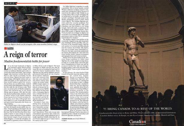 Article Preview: A reign of terror, March 1994 | Maclean's