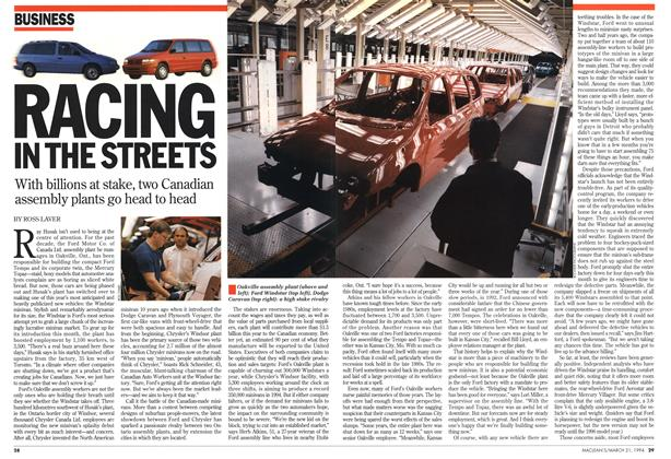 Article Preview: RACING IN THE STREETS, March 1994 | Maclean's