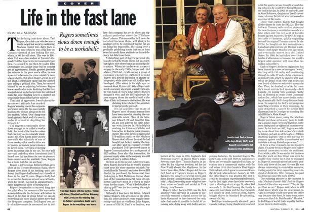 Article Preview: Life in the fast lane, March 1994 | Maclean's