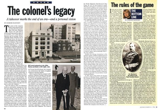 Article Preview: The colonel's legacy, March 1994 | Maclean's