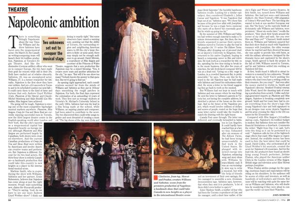 Article Preview: Napoleonic ambition, March 1994 | Maclean's