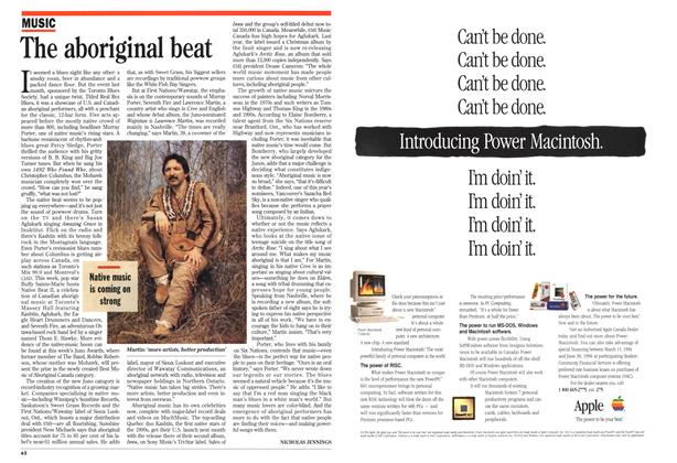 Article Preview: The aboriginal beat, March 1994 | Maclean's
