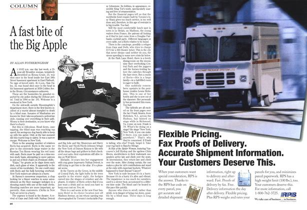 Article Preview: A fast bite of the Big Apple, March 1994 | Maclean's