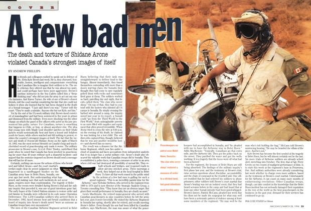 Article Preview: A few bad men, March 1994 | Maclean's