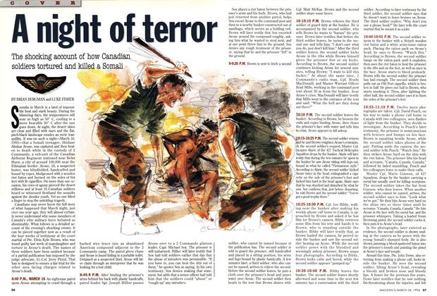Article Preview: A night of terror, March 1994 | Maclean's