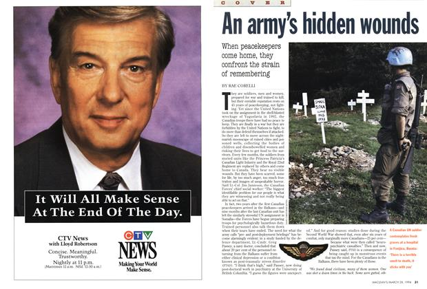Article Preview: An army's hidden wounds, March 1994 | Maclean's