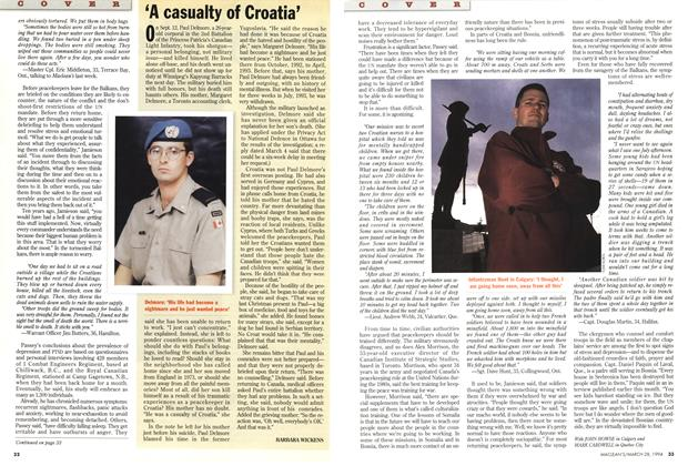 Article Preview: 'A casualty of Croatia', March 1994 | Maclean's