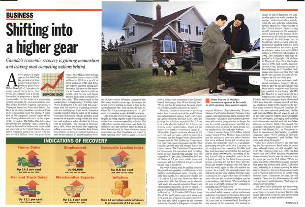 Article Preview: Shifting into a higher gear, March 1994 | Maclean's