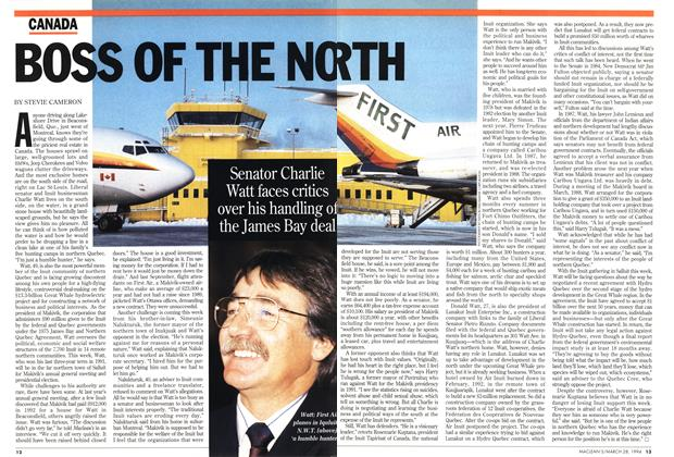 Article Preview: BOSS OF THE NORTH, March 1994 | Maclean's